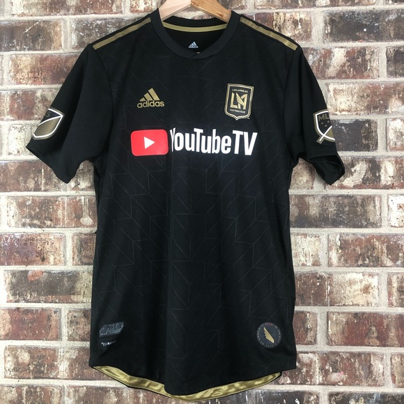 promo code 1cf80 2c6be Adidas Men LAFC 2018 Authentic Home Jersey Sz L